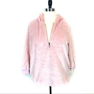 Ideology Shimmer Pink Empower Pullover sz 2X NWT
